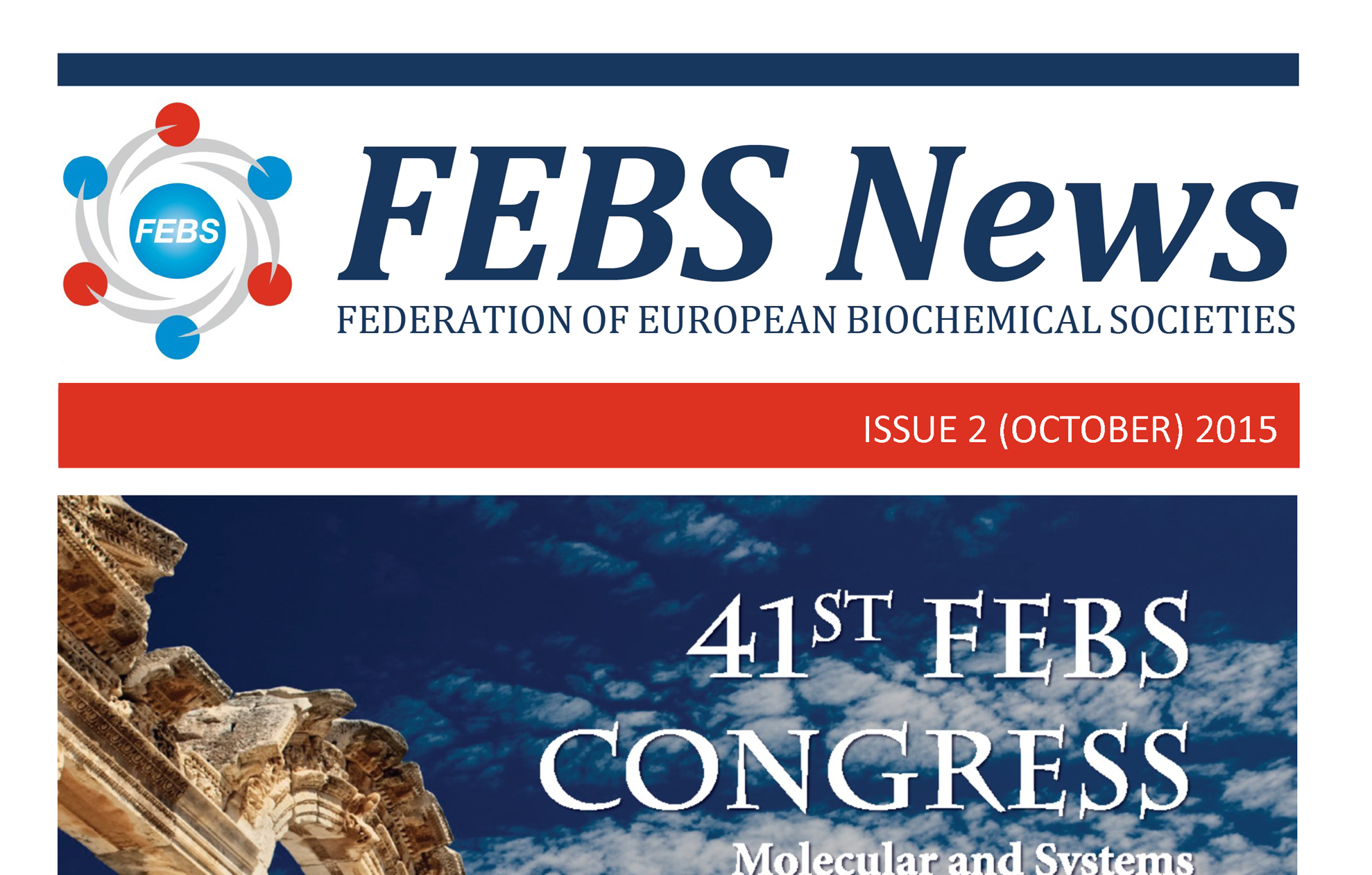 The October 2015 issue of FEBS News is out!